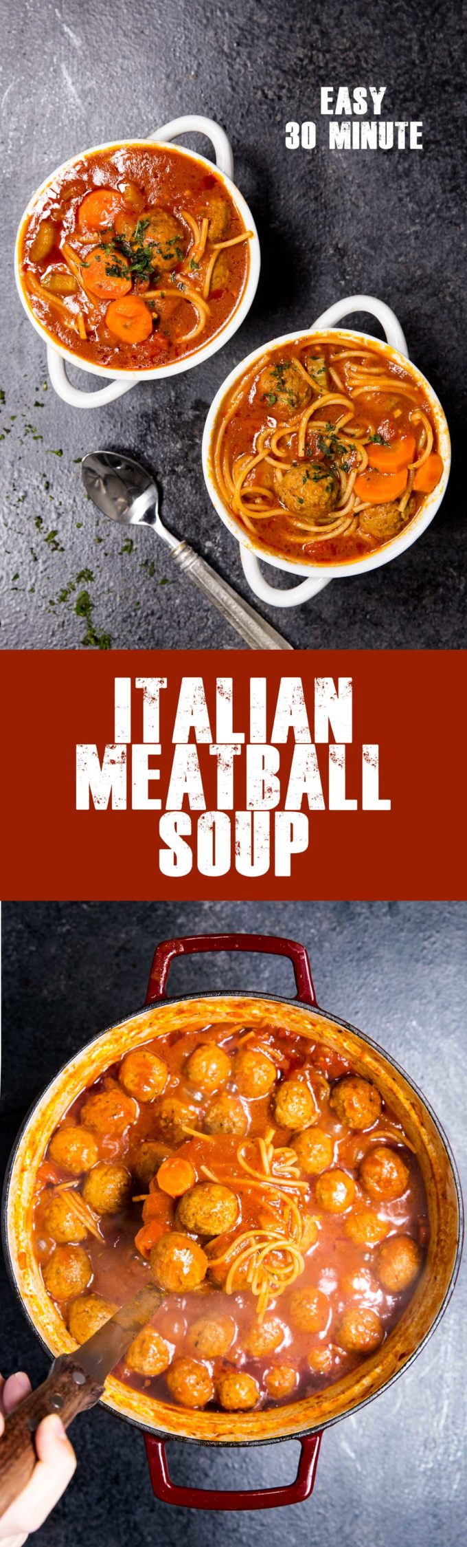Easy Italian Meatball Soup is a classic soup full of delicious flavors.