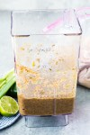Blended up jerk chicken marinade