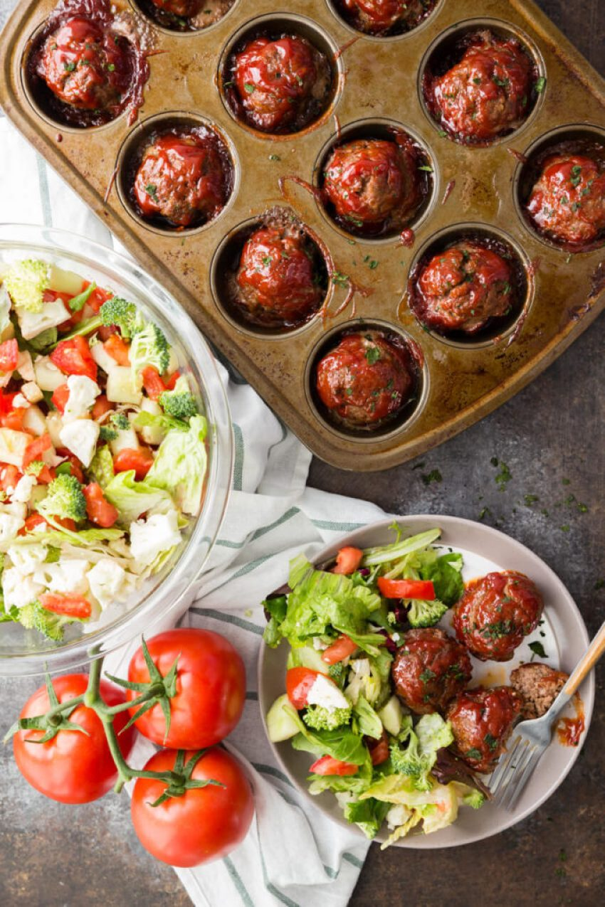 Meatloaf Minis are packed with flavor, made in a muffin tin for thorough cooking and easy serving, and rivals any meatloaf out there!