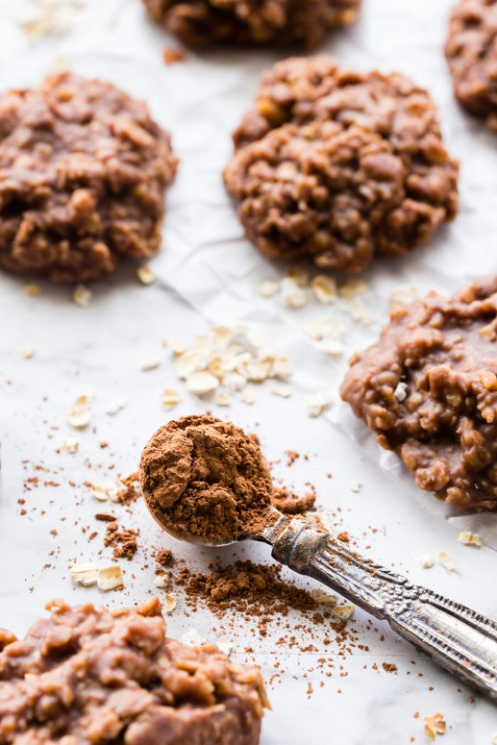 Making Peanut Butter and Chocolate no bake cookies