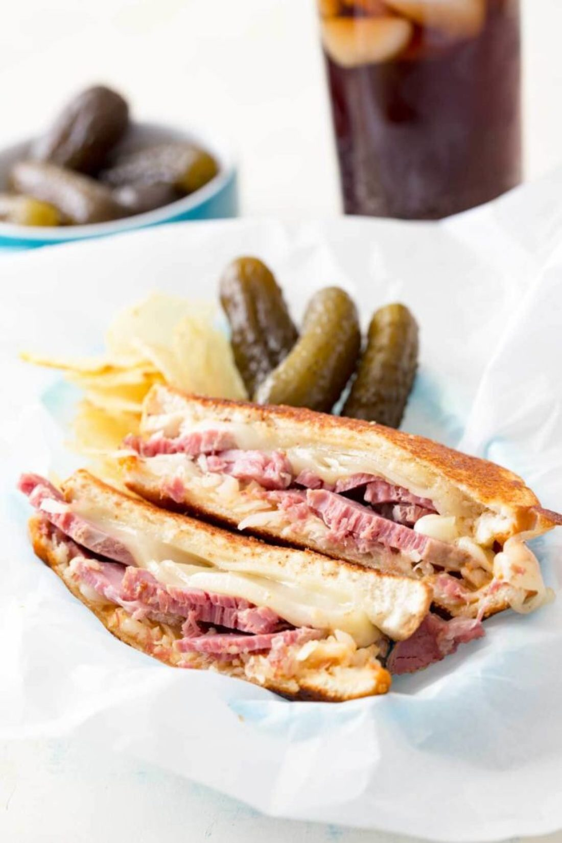 Reuben sandwich recipe, corned beef sandwich with a twist