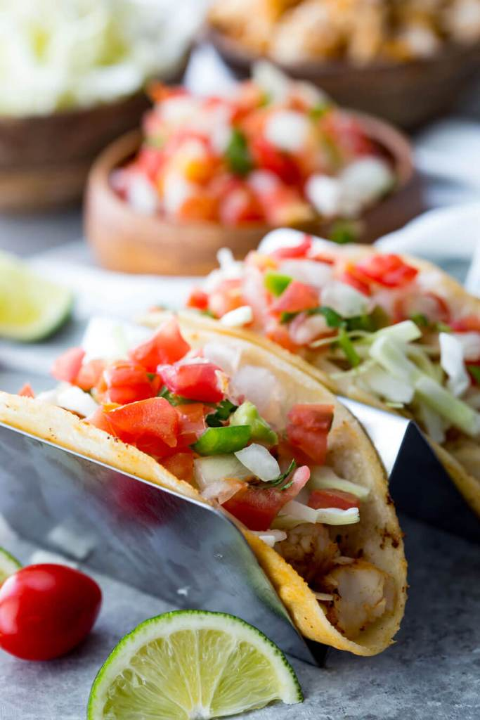 Fish Tacos Tilapia: Tilapia Fish Tacos are mild, flaky, tender, and delicious