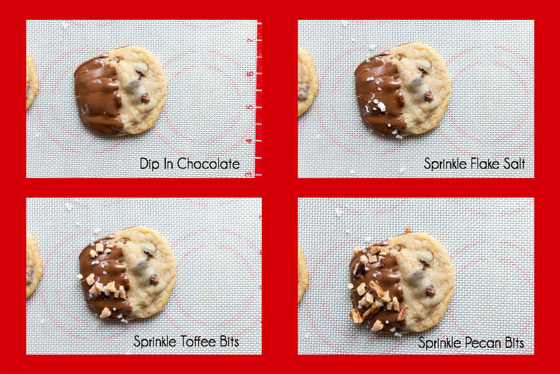 How to make the toffee pecan cookies