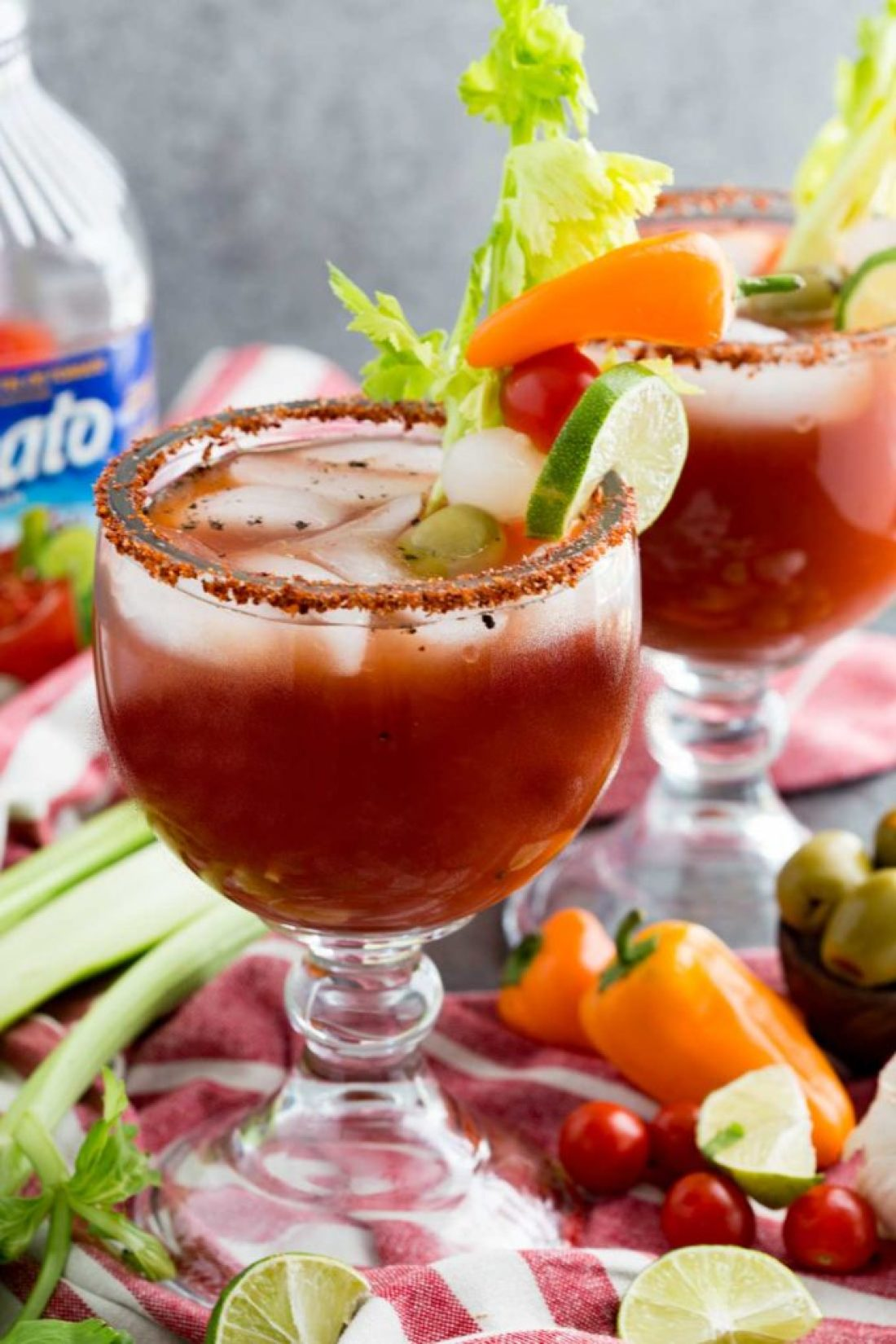 Michelada Ingredients: Or, not so bloody mary. This is a spicy tomato based mocktail with bold flavors, and a fun kick perfect for eating alfresco with friends!