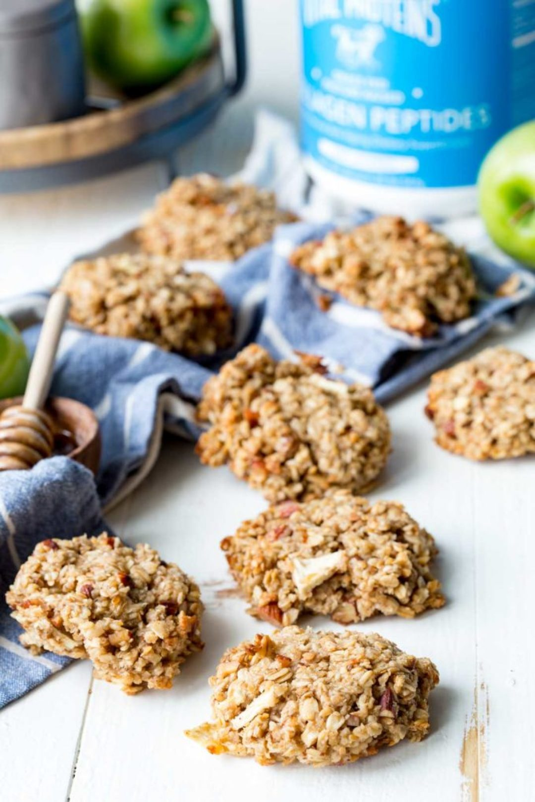 Apple Pie Breakfast Cookies are a healthy way to start your day.