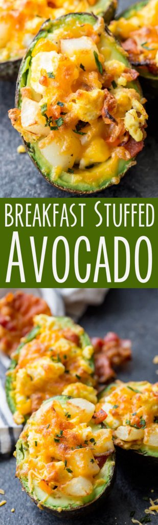 Breakfast stuffed avocado