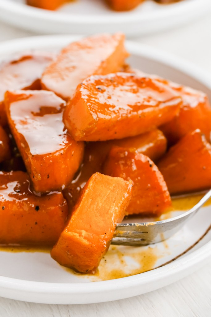 candied yams on a plate