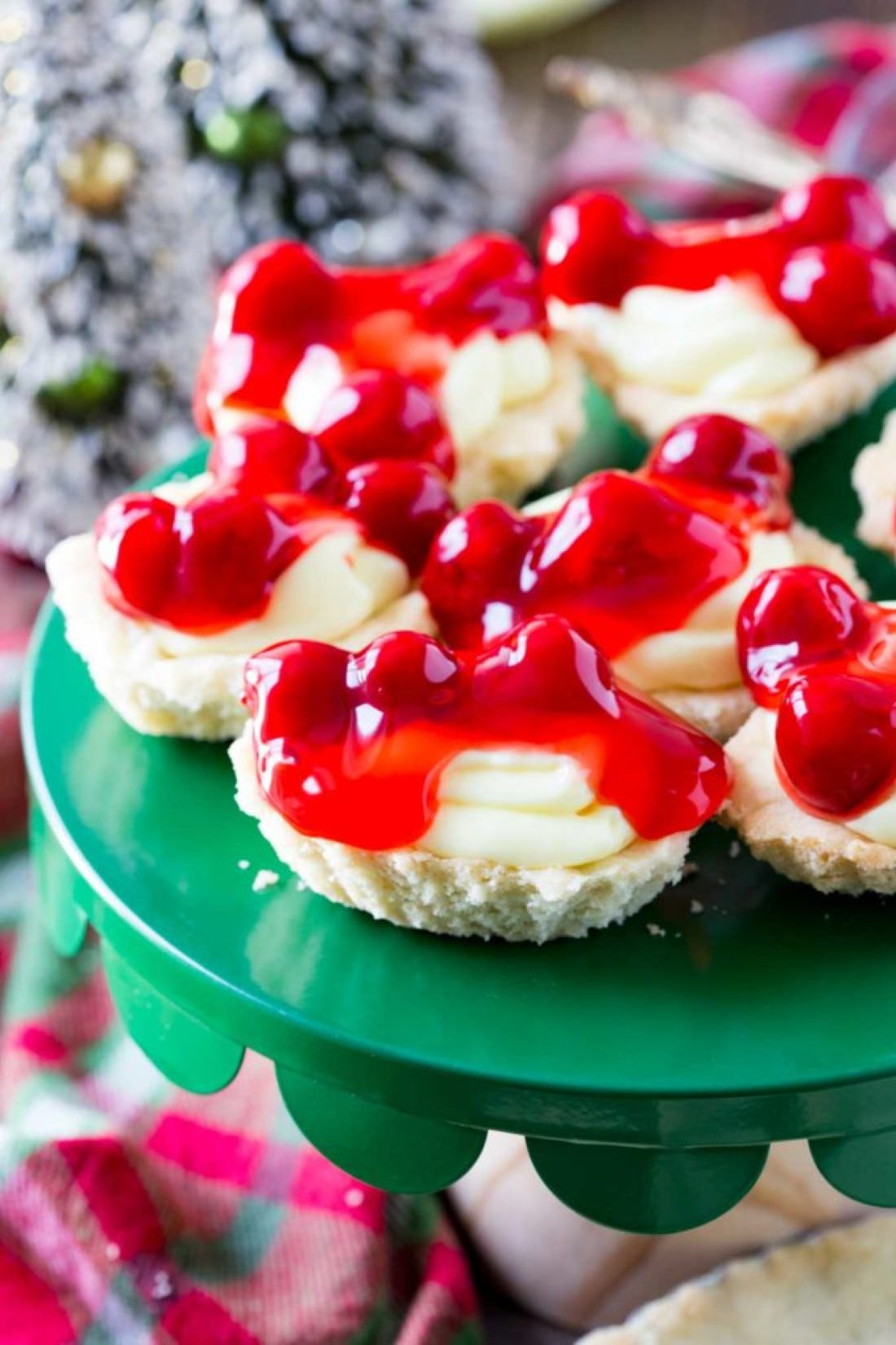 Cherry Cheesecake Tarts