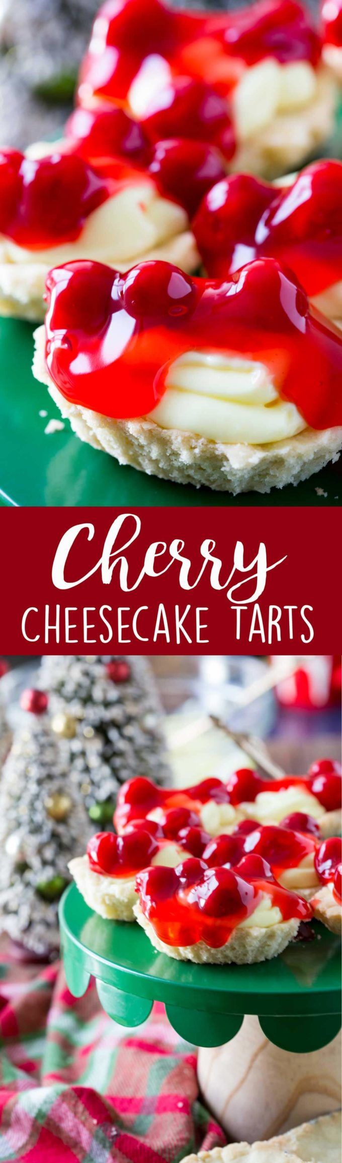 Cherry Cheesecake Butter Tarts are an easy and impressive dessert