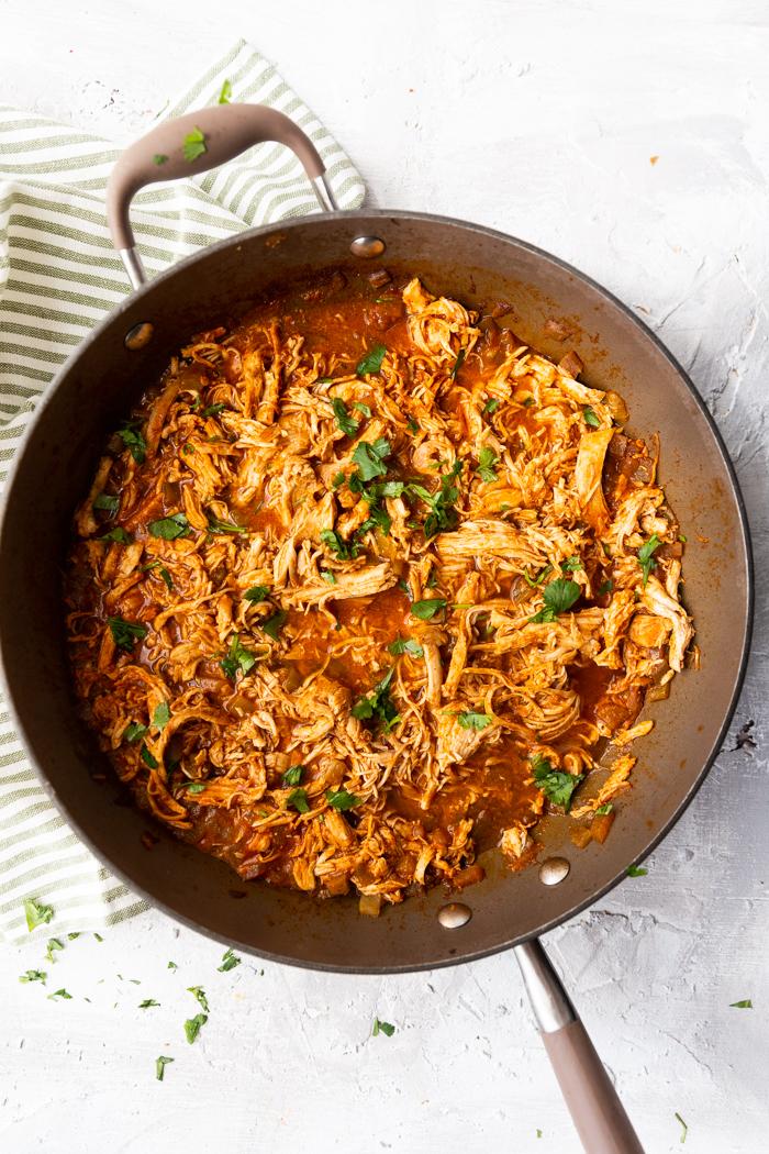 chicken enchilada keto bowls