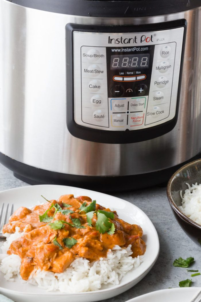 Easy instant pot tikka masala with deep rice aroma and flavors