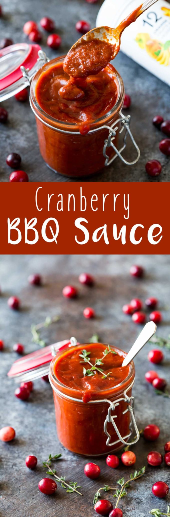 Easy Cranberry BBQ sauce. This seasonal sauce is good on everything from leftover turkey sandwiches to meatballs served as appetizers.