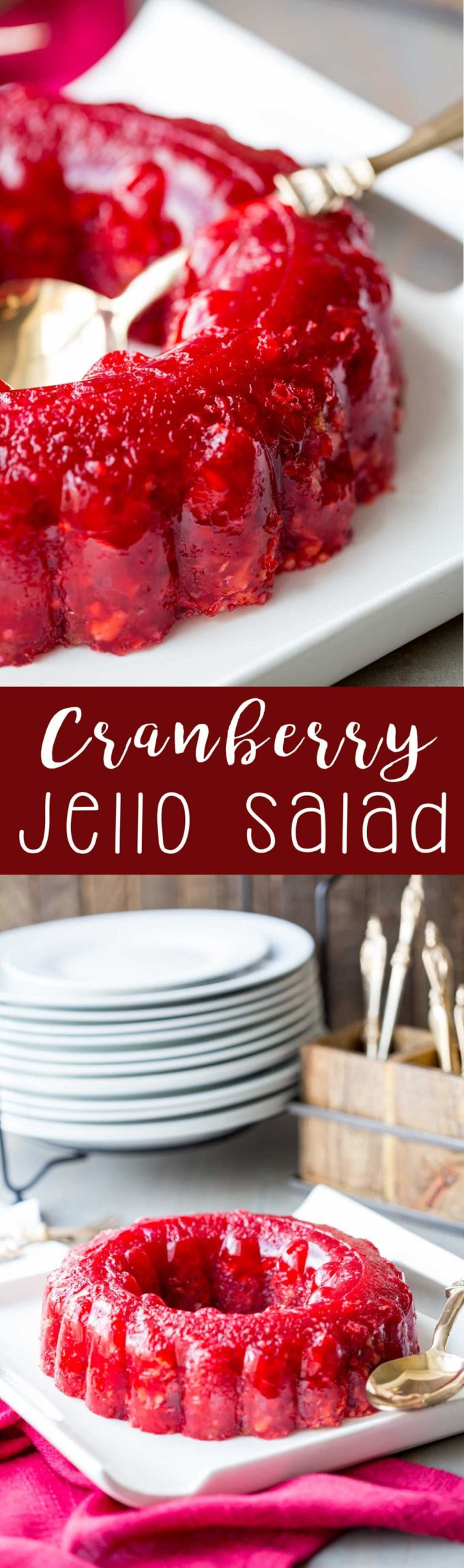 Cranberry Jello Salad: A combination of orange juice, cranberry juice, crunchy walnuts, celery, and pineapple that will make your holiday unforgettably sweet.