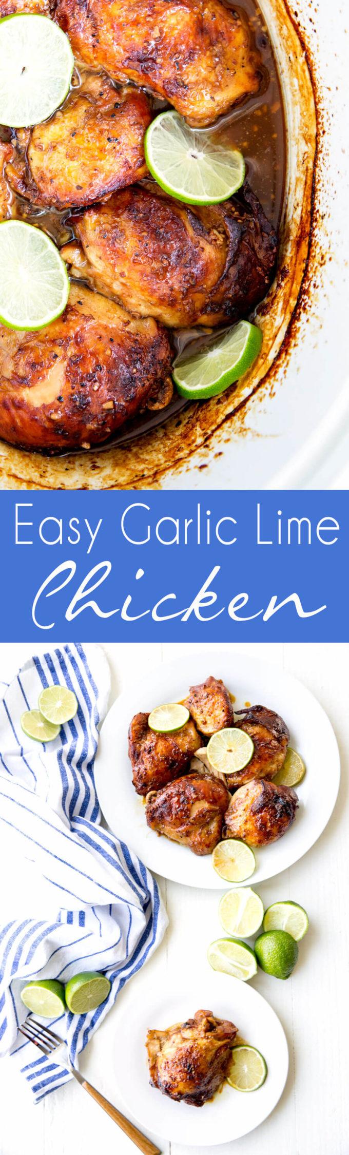 Garlic Lime Chicken in crockpot.