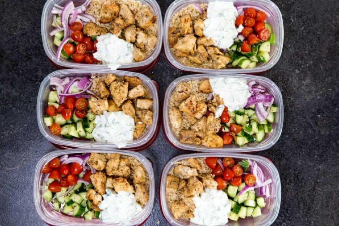 Chicken Bowl: Insanely delicious Greek Chicken bowl recipes. Greek Marinated Chicken, cucumber salad, tzatziki, red onion, and tomato, served over brown rice. These are quick and easy to make, and will help you be set for the week.