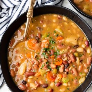instant pot ham and bean soup