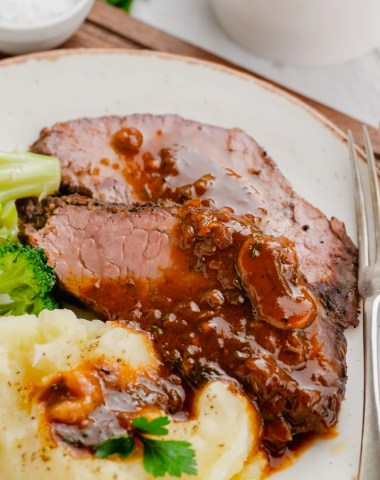 Instant pot sirloin roast with mushroom sauce