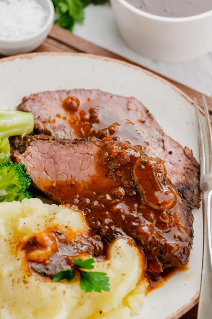 Instant pot sirloin roast with mushroom sauce