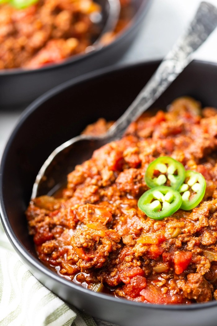 Low carb (beanless) chili