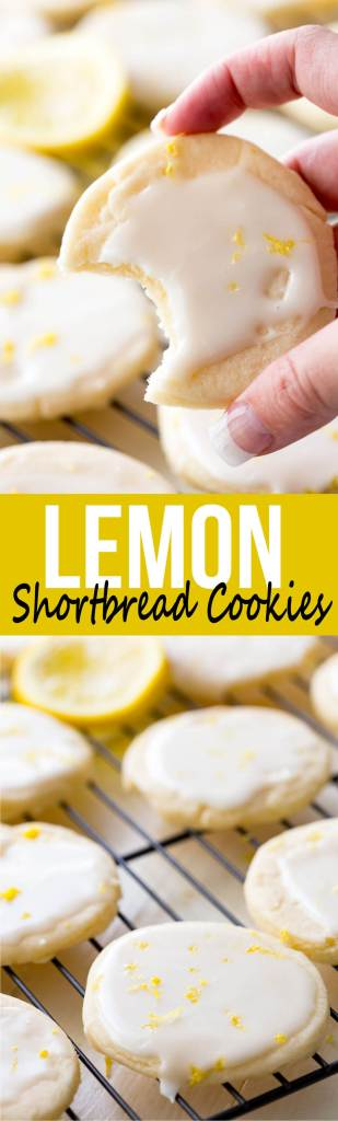 Shortbread Cookies: Literally the best cookies ever! These light, buttery cookies offer a subtle lemon flavor, and are topped with a bright and vibrant lemon glaze, giving you a mouthful of delicious goodness. These are special cookies.