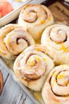 Orange sweet rolls are fluffy soft, and come together in just 90 minutes