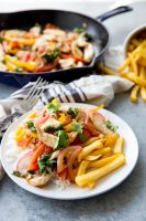 Peruvian Chicken Stir Fry, this pollo saltado is a delicious fusion meal