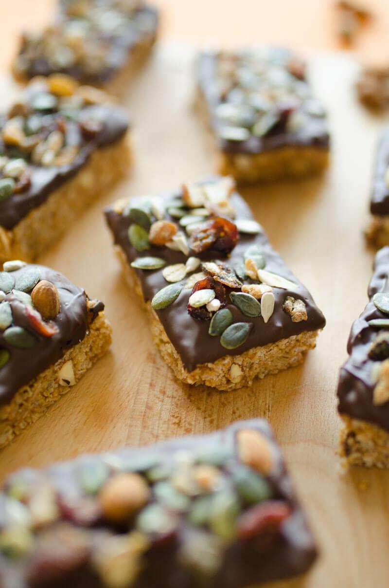 Easy Chocolate-Dipped Granola Bars, Hero