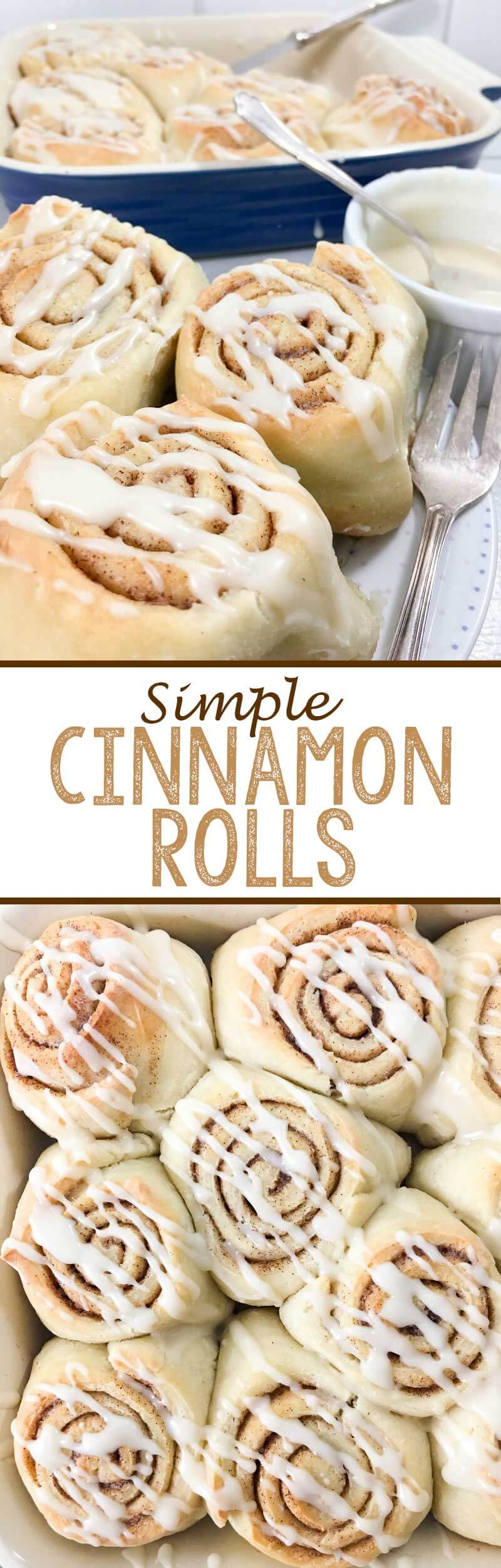 Simple Cinnamon Roll recipe with only a few ingredients!