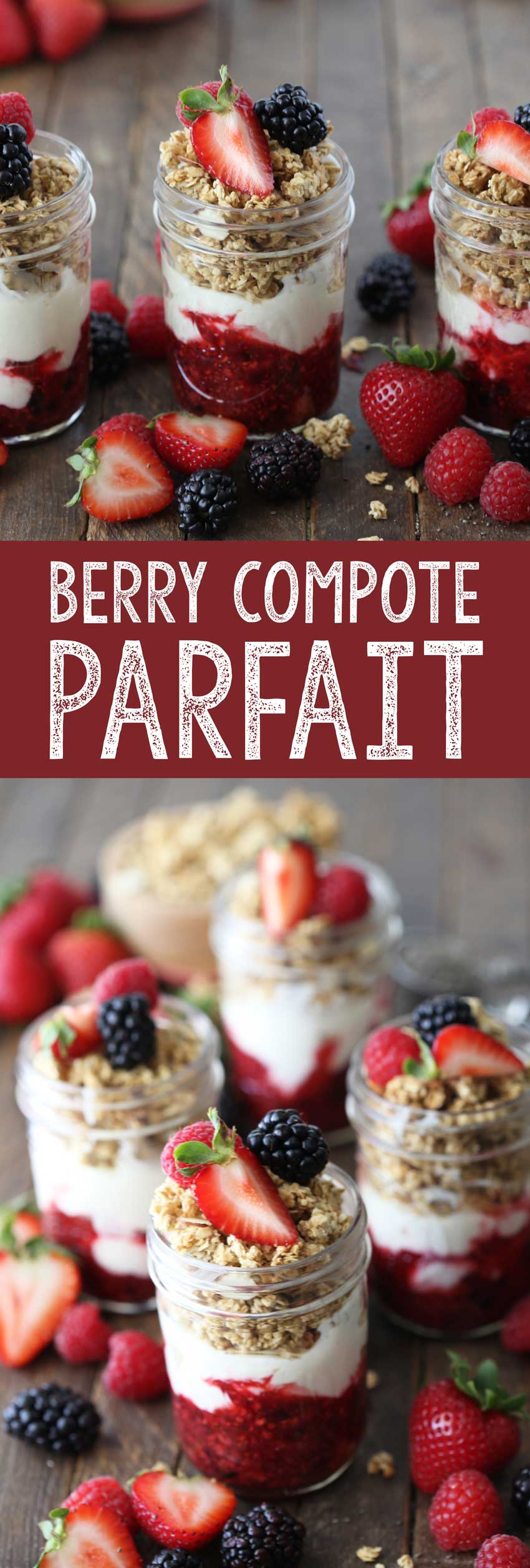 Berry Compote Parfait is a sweet and nutritious breakfast, snack, or dessert!