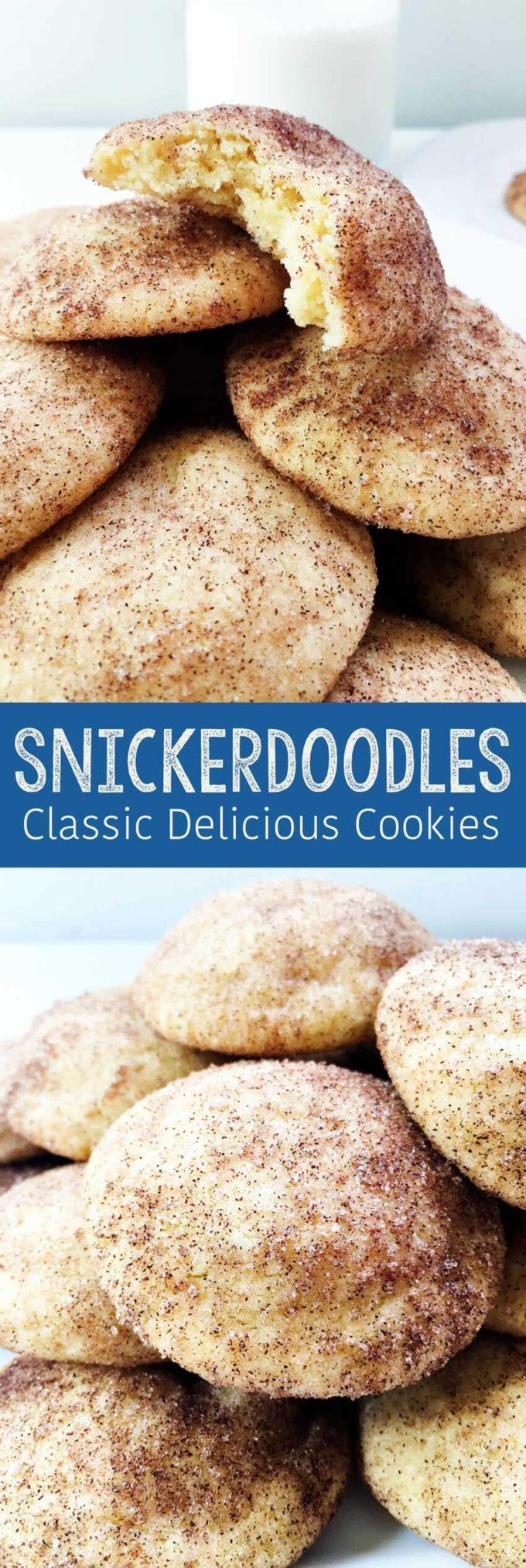 Snickerdoodle cookies, a classic delicious recipe