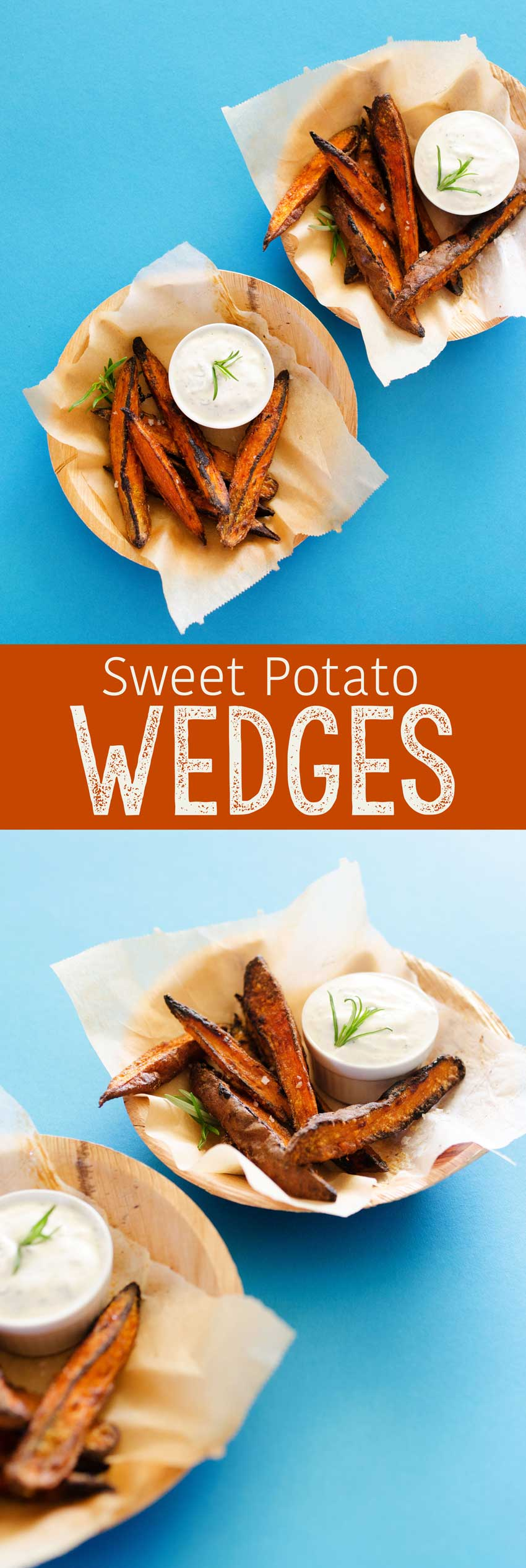 Delicious and easy sweet potato wedges, the perfect side when grilling!