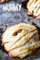 These were a huge hit at our Halloween party! These mummy apple hand pies are delicious and easy to make too. #ad