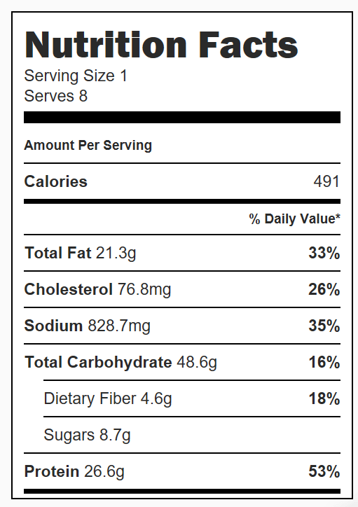 One Pot Beefy Tomato Tortellini Soup Nutrition Facts