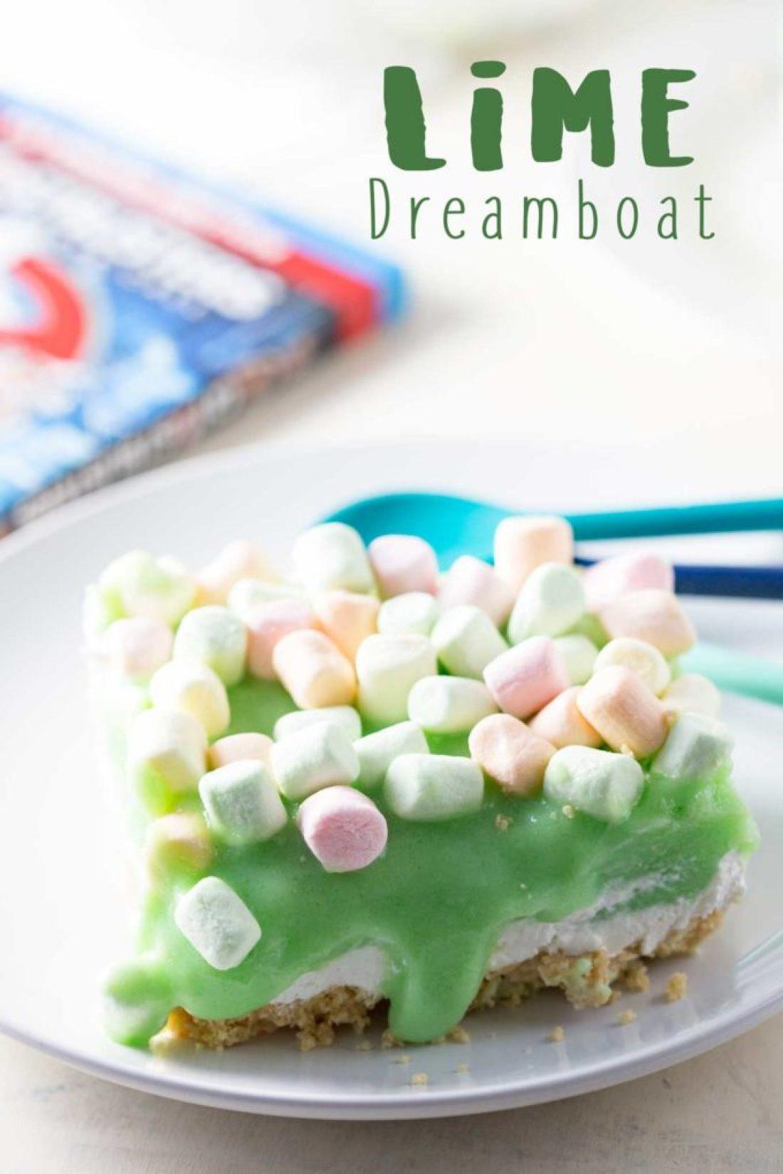 Lime cheesecake dreamboat dessert