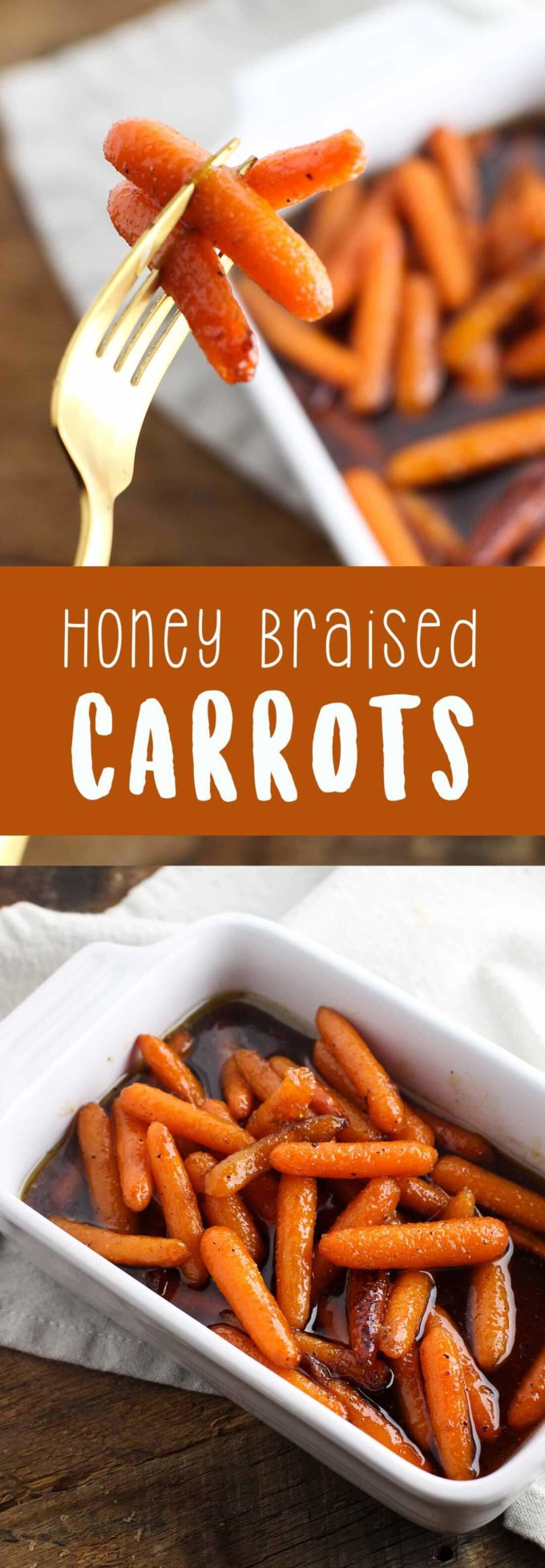 Delicious honey braised carrots perfect for a side dish