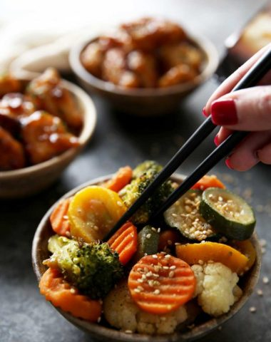 Asian inspired roasted veggies