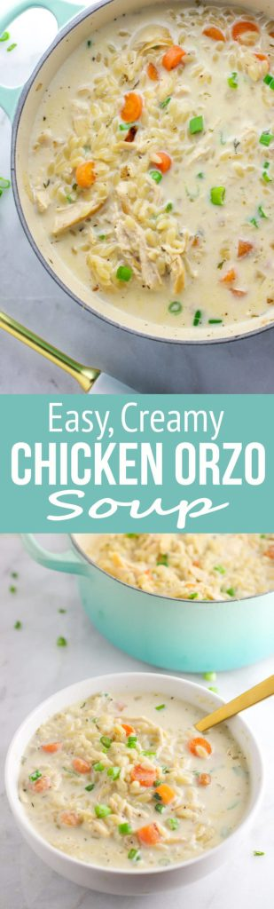 Chicken Orzo Soup: This soup is an easy and flavorful take on the classic chicken noodle soup! It's sure to be a new family favorite!