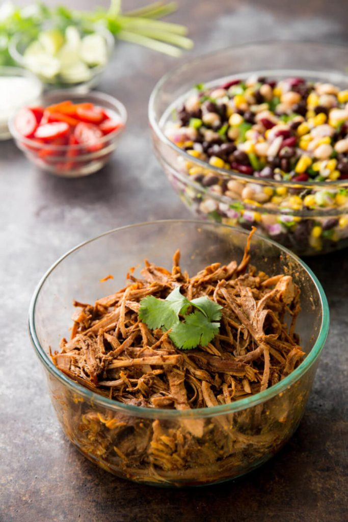 Deliciously seasoned pulled pork for a protein packed lunch bowl