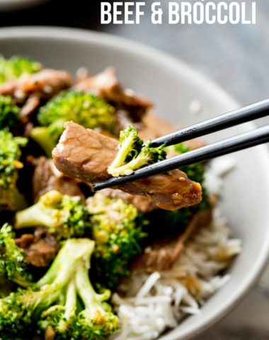 Easy sheet pan beef and broccoli with a killer sauce