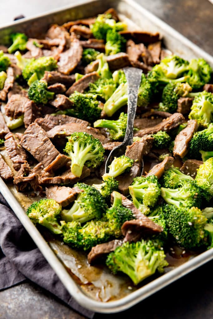 Sheet pan beef and broccoli is convenient and tasty