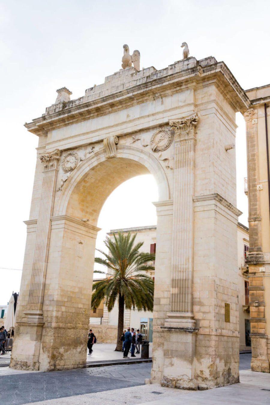 Porta Reale in Noto Italy