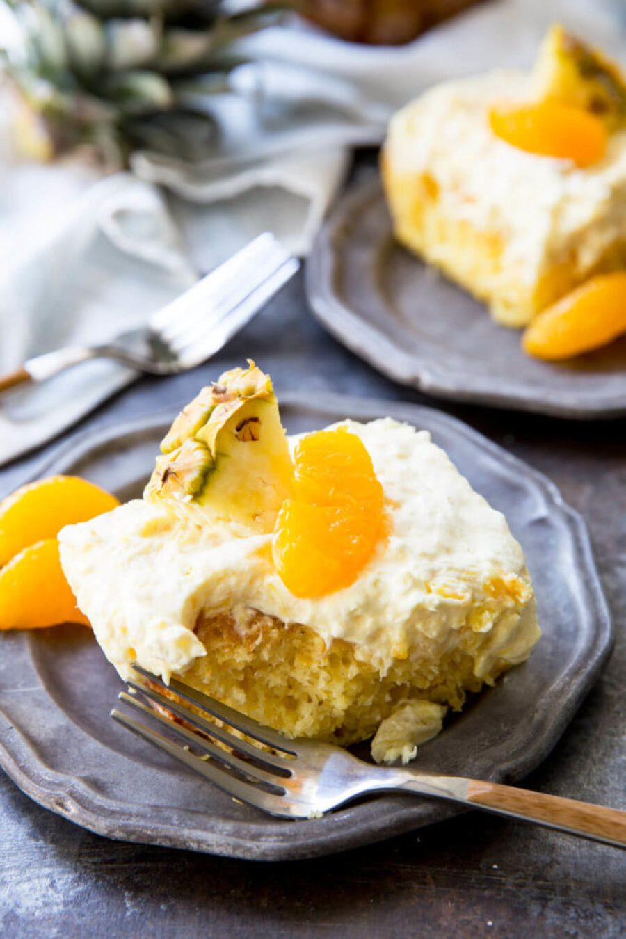 Mandarin Orange Cake With Pineapple Fluff Frosting Easy