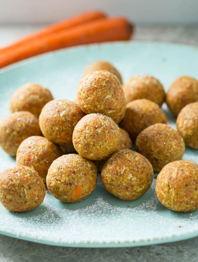 Super easy no-bake Carrot Cake Bites that are perfect for snacks or dessert