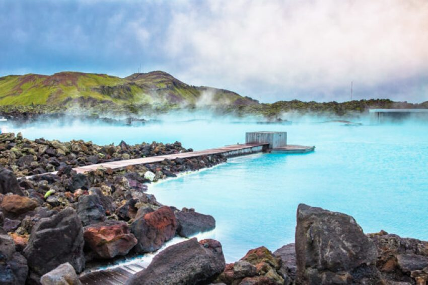 The beautiful Blue Lagoon in Iceland