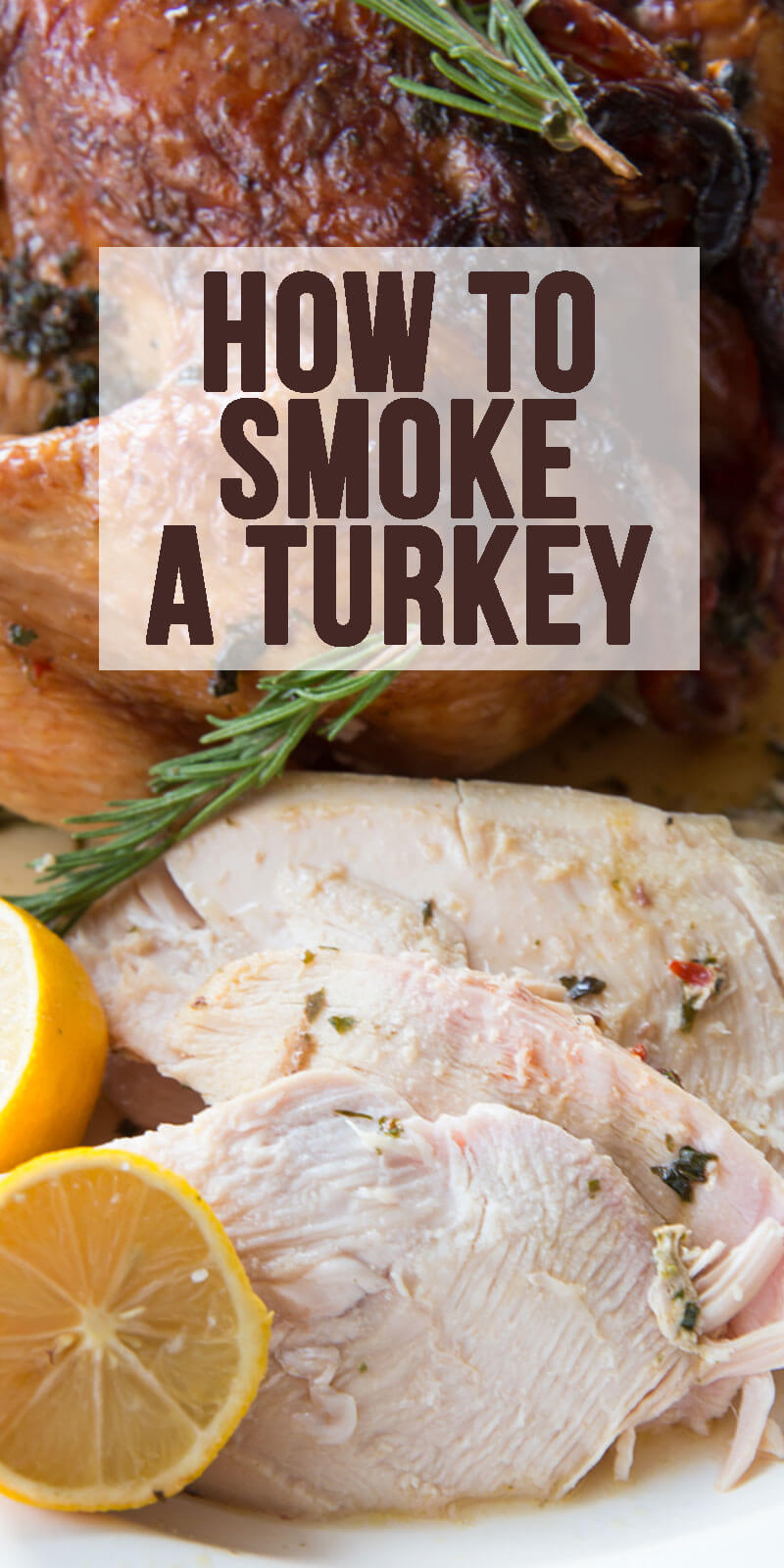 Smoking a Turkey: The perfect way to create juicy, flavorful, mouthwatering turkey for Thanksgiving, or any other time of year! This is hands down the best turkey I have ever had.