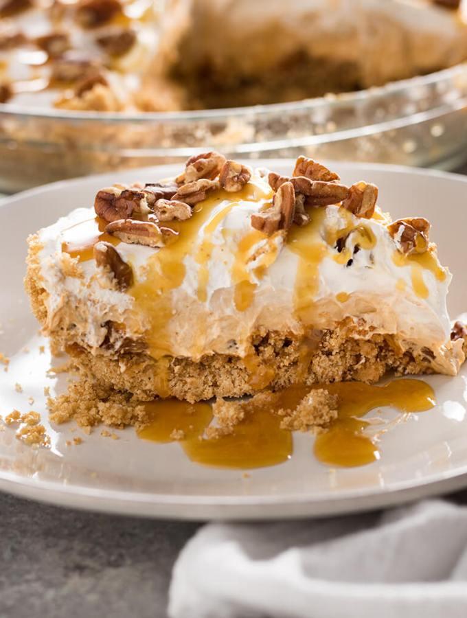 No Bake Butterscotch Pie