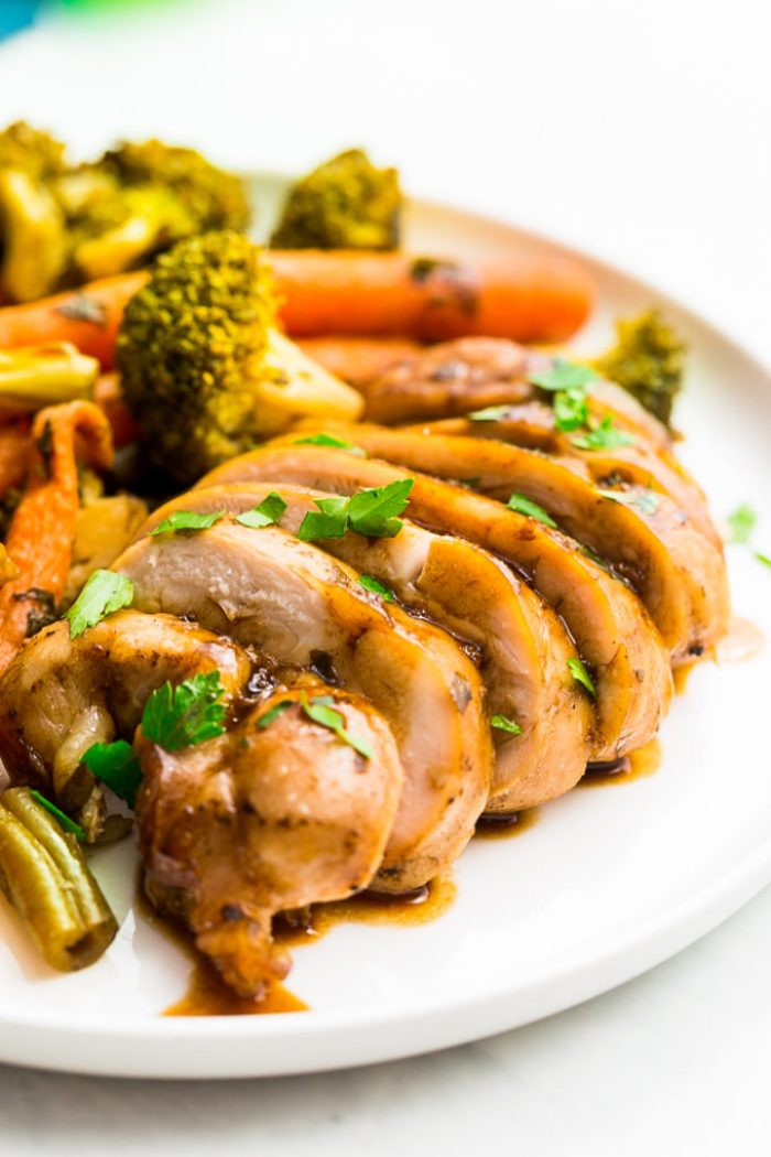 Balsamic Chicken Meal Prep: A delicious balsamic chicken and roasted veggies