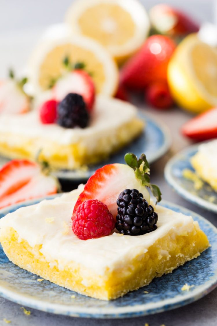 Lemon Cheesecake Bars are perfect for spring