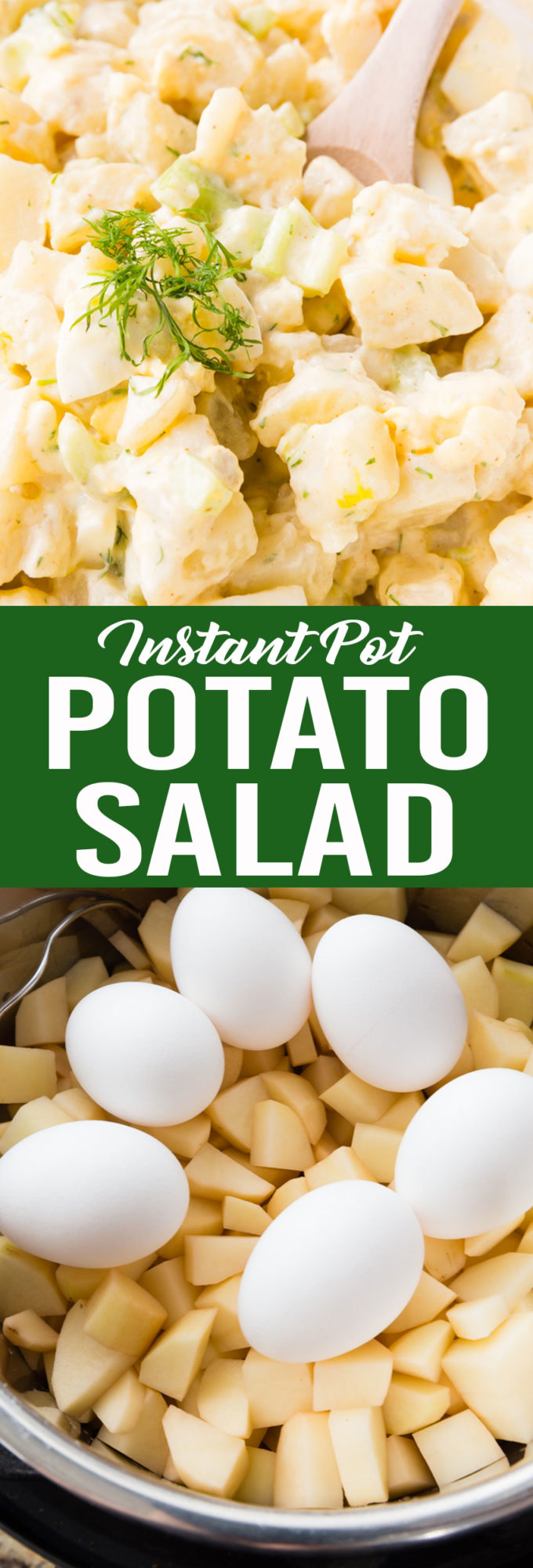 Tender but firm potatoes, perfectly cooked eggs, and a delicious potato salad!