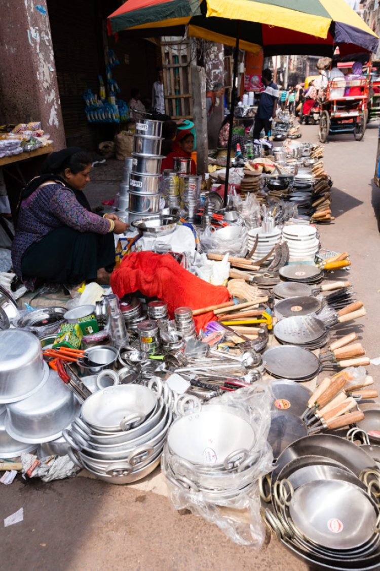 Vendors selling water in Delhi India